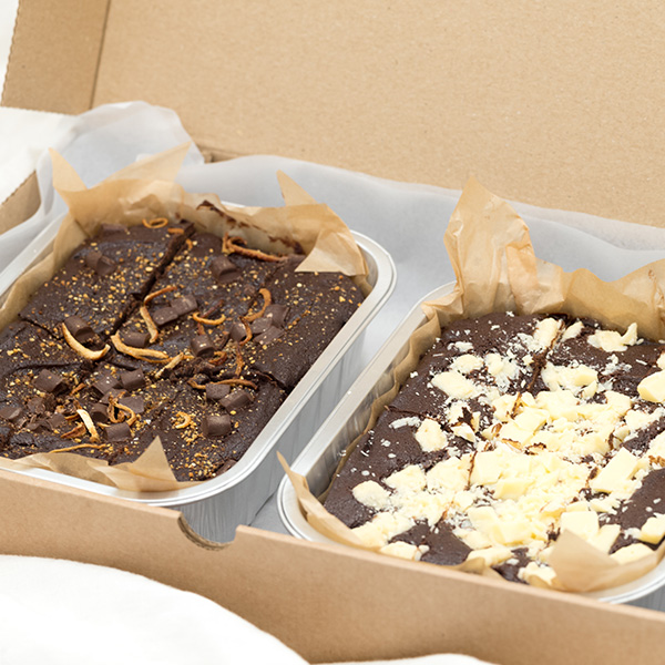 2 brownies in a box