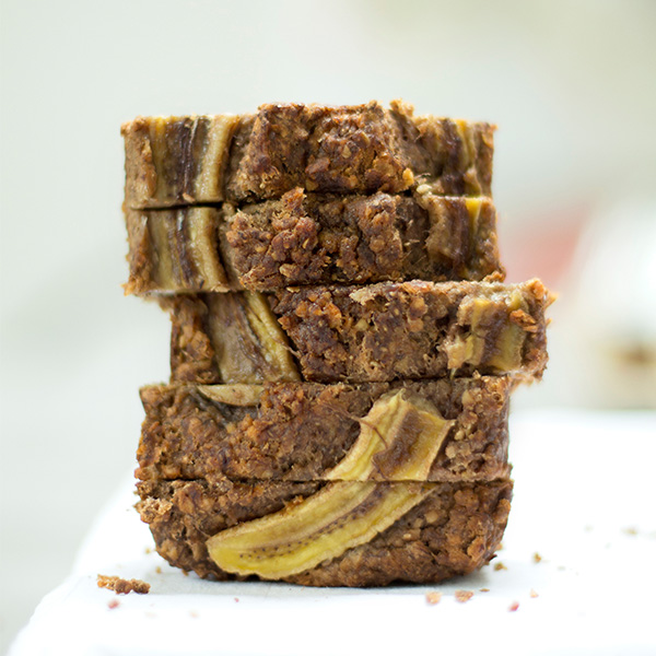 banana spiced loaf sliced
